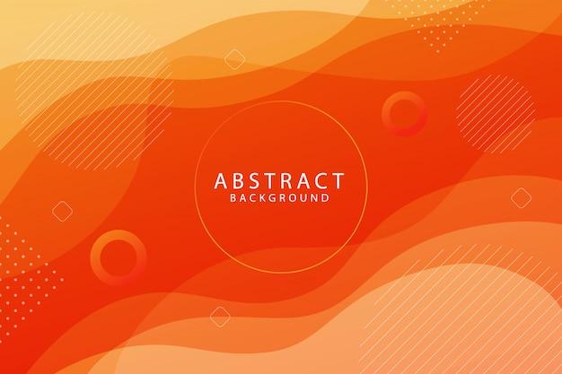 Fond abstrait géométrique de forme orange dégradé