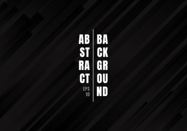 Fond abstrait géométrique des rayures diagonales noires.