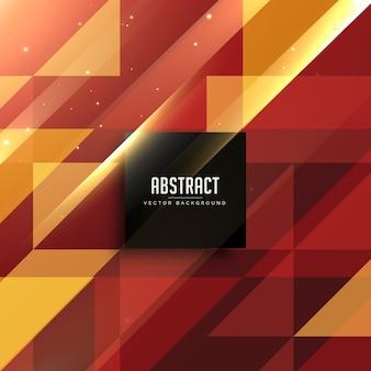 Fond abstrait géométrique rouge et doré
