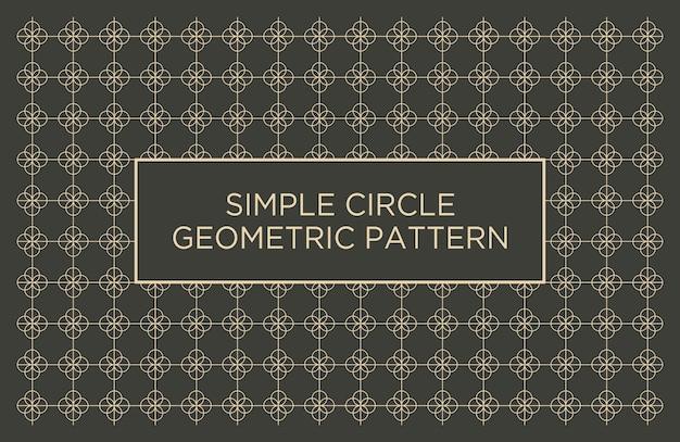 Fond abstrait géométrique simple cercle