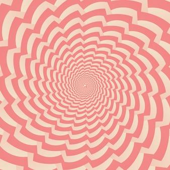 Fond abstrait géométrique de tourbillon concentrique