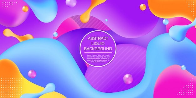 Fond abstrait gradient coloré dynamique liquide