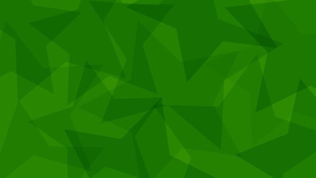 Fond abstrait de grandes étoiles translucides dans des couleurs vertes