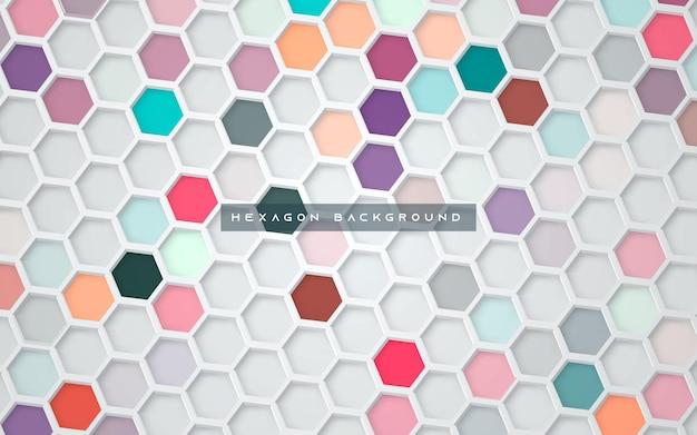 Fond abstrait hexagone coloré