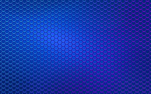 Fond abstrait hexagone géométrique bleu