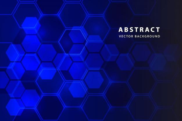 Fond abstrait d'hexagone