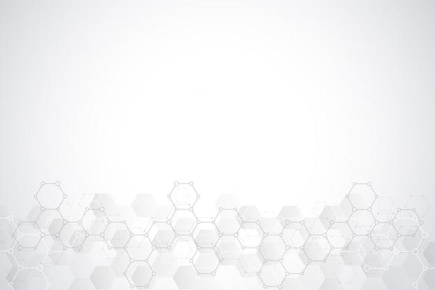 Fond abstrait hexagones