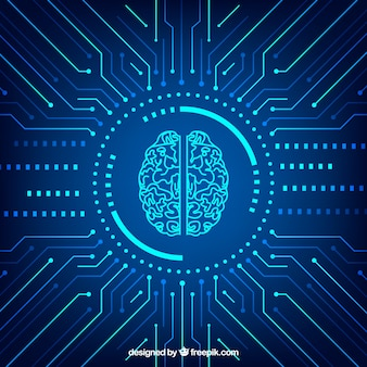 Fond abstrait d'intelligence artificielle