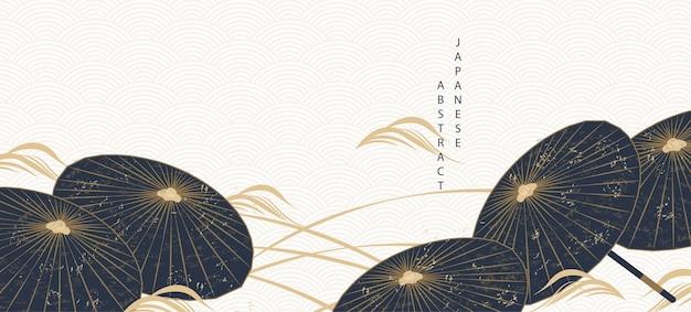 Fond abstrait japonais oriental