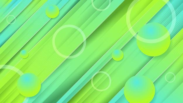 Fond abstrait jaune vert vecteur premium