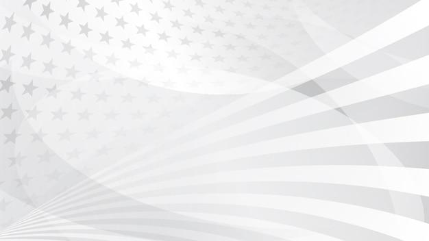Fond abstrait de jour de l'indépendance avec des éléments du drapeau américain dans des couleurs grises