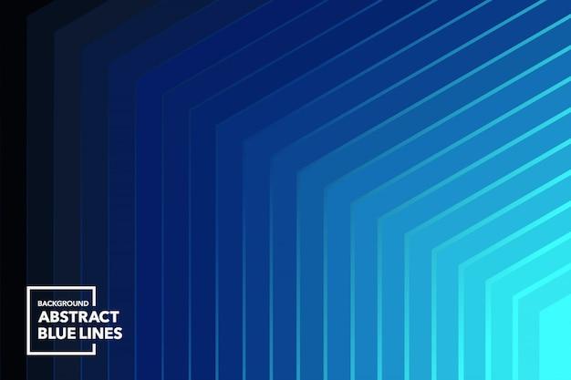 Fond abstrait lignes bleues