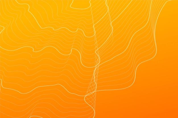 Fond abstrait lignes de contour orange