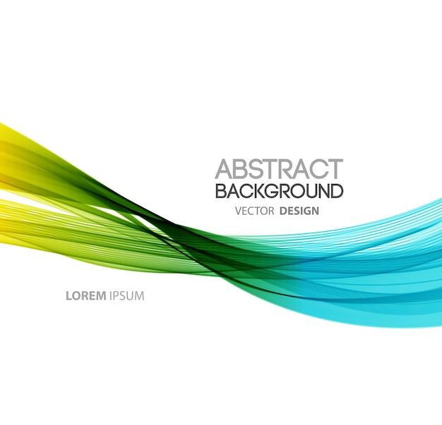 Fond abstrait de lignes courbes. conception de brochure de modèle