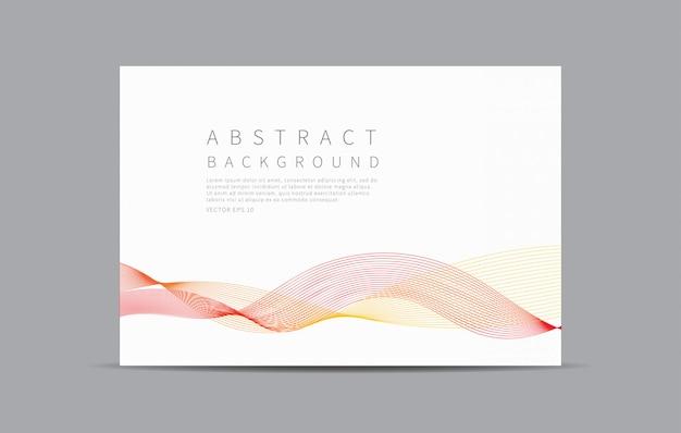 Fond abstrait. des lignes courbes ondulent.
