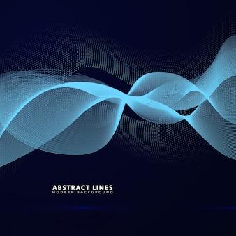 Fond abstrait de lignes ondulées