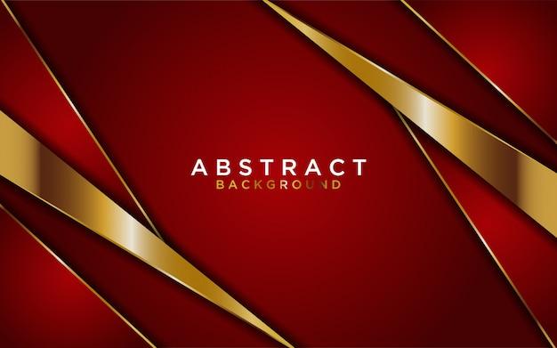 Fond abstrait lignes rouges et or