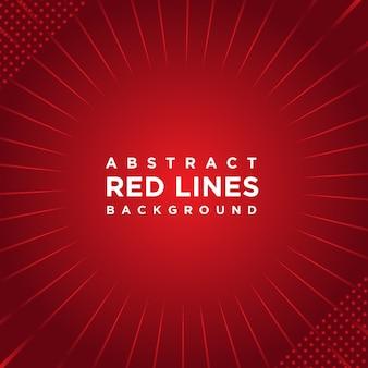 Fond abstrait lignes rouges