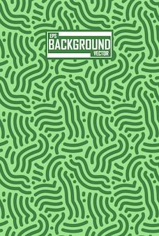 Fond abstrait de lignes vertes