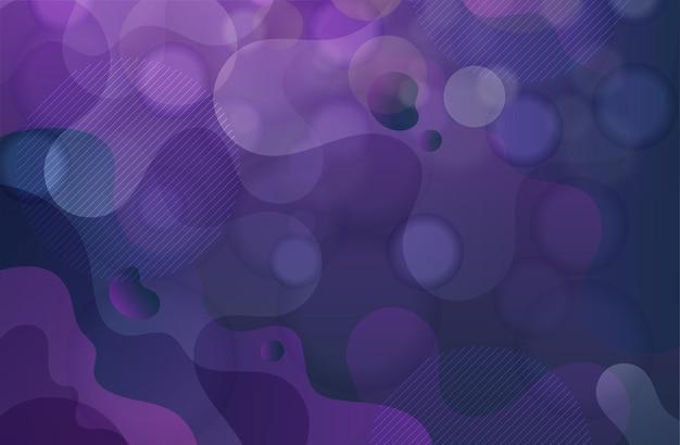 Fond abstrait liquide dégradé violet bleu vague