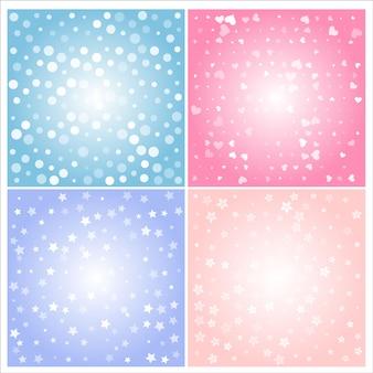 Fond abstrait lumière style mignon et couleur.