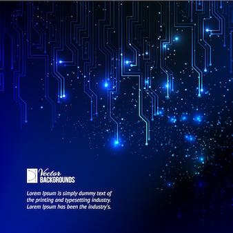 Fond abstrait de lumières bleues