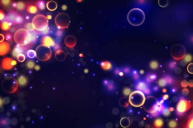 Fond abstrait lumières colorées