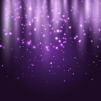 Fond abstrait de lumières rougeoyantes