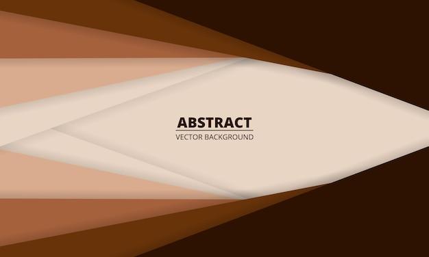 Fond abstrait marron et beige avec des lignes de papier
