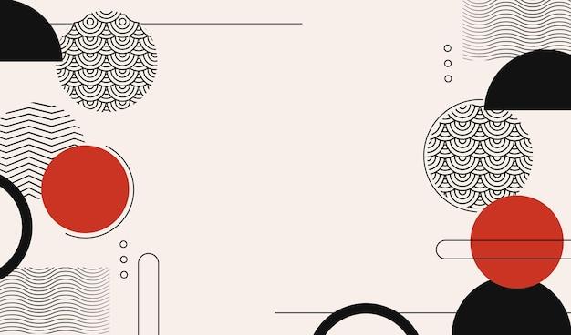 Fond abstrait de memphis avec des formes géométriques