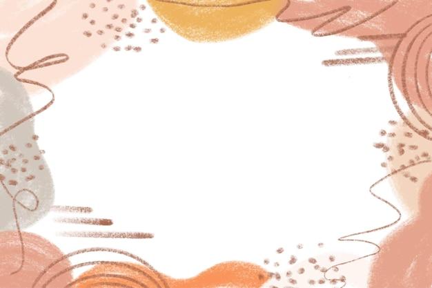 Fond abstrait minimaliste aquarelle dessinés à la main avec pastel de couleur
