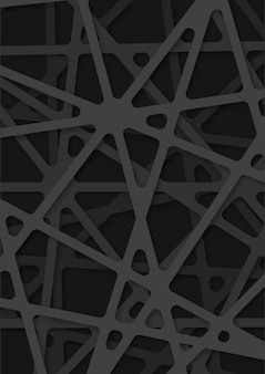 Fond abstrait moderne de papercut avec des formes géométriques, fond abstrait moderne de papercut