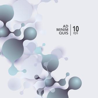 Fond abstrait de molécules avec des cellules. antécédents médicaux.