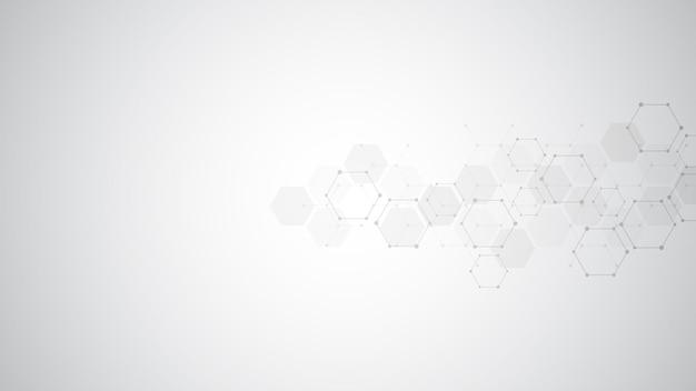 Fond abstrait de molécules.