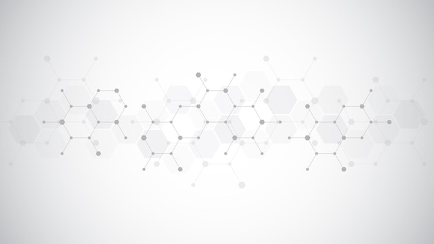 Fond abstrait de molécules