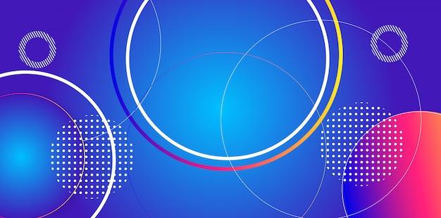 Fond abstrait motif circulaire