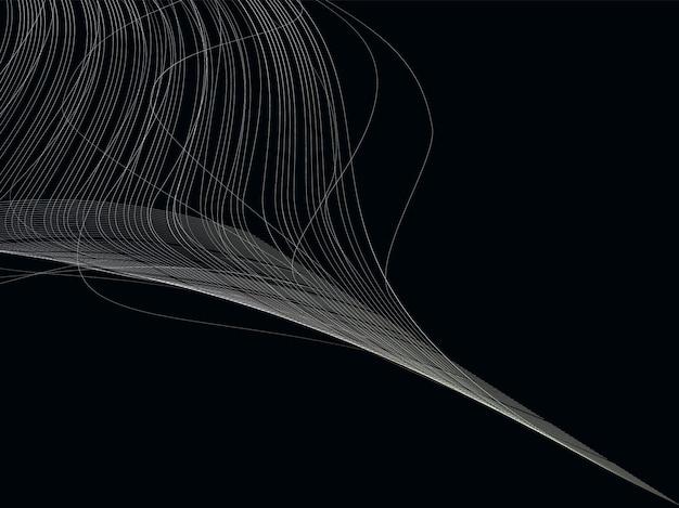Fond abstrait musical de vagues monochromes. affiche 3d dynamique minimaliste.