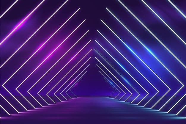 Fond abstrait de néons