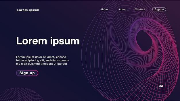 Fond abstrait ondes linéaires dynamiques violet clair pour la page d'accueil