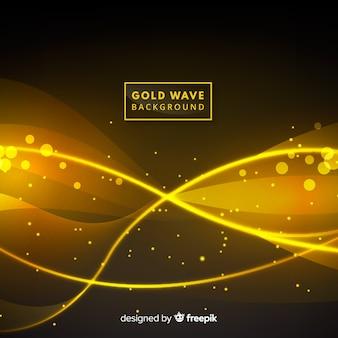 Fond abstrait ondulé doré