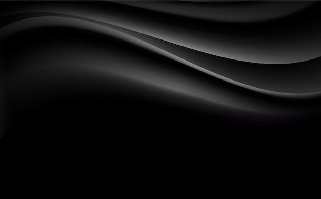 Fond abstrait ondulé noir