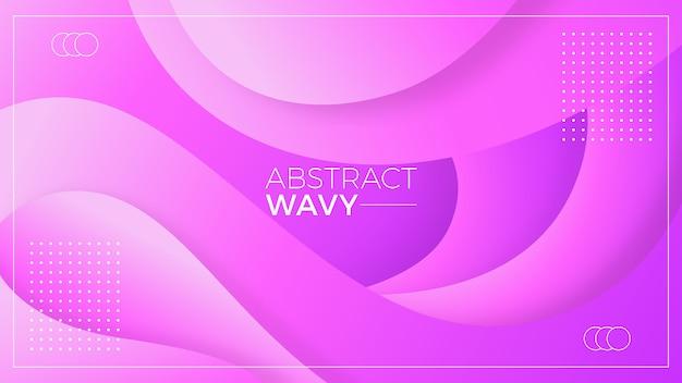 Fond abstrait ondulé violet