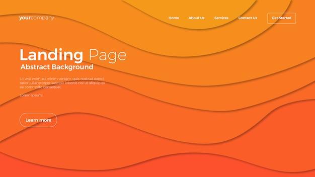 Fond abstrait page de destination