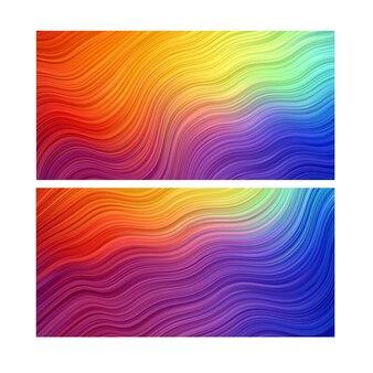 Fond abstrait. papier peint à rayures. bannière colorée