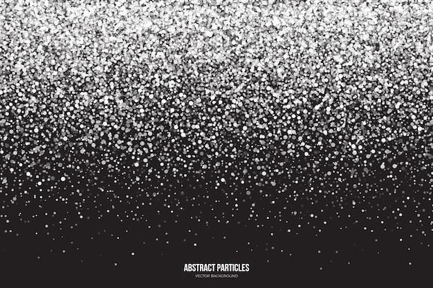 Fond abstrait particules chute brillant blanc scintillant