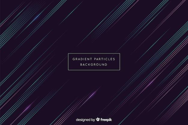 Fond abstrait de particules circulaires dégradé