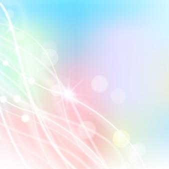 Fond abstrait plat pour des vacances dans des couleurs pastel avec des lignes blanches et des taches