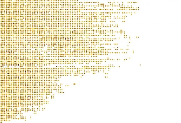 Fond abstrait en pointillé doré