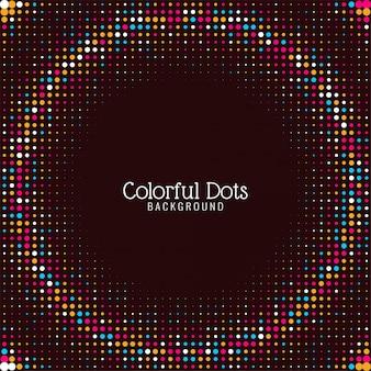 Fond abstrait points colorés élégants
