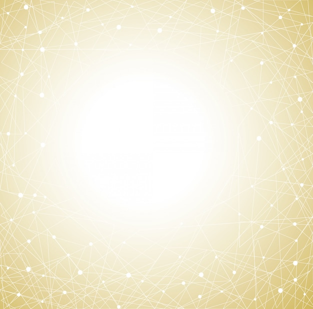 Fond abstrait de polygones jaunes